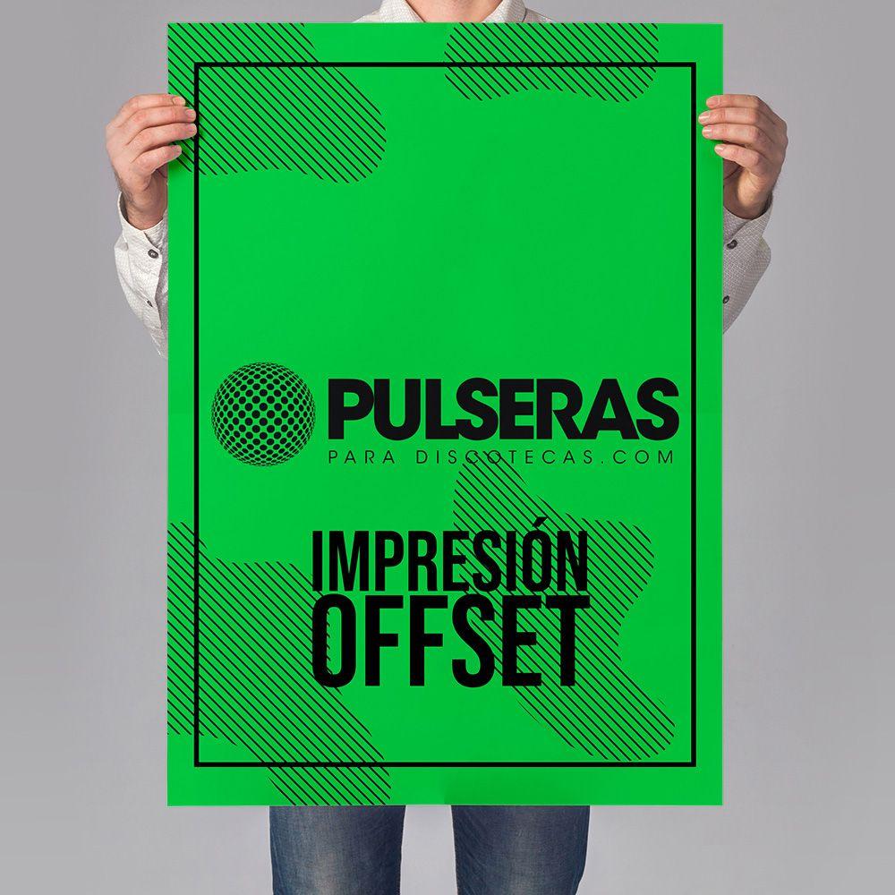 impresión carteles verde neon