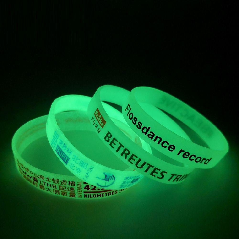 pulseras silicona glow