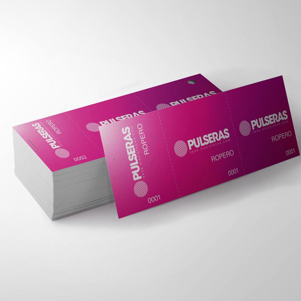 impresión tickets guadarropa